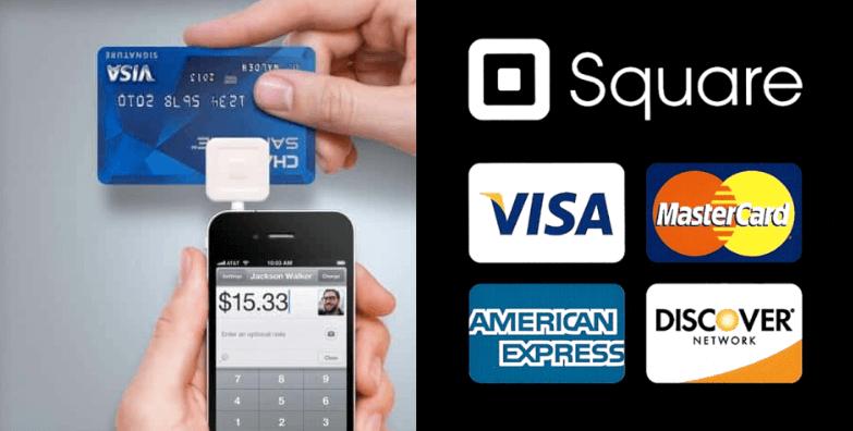 payment methods via SQUARE app